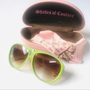 🆕 Neon Green Aviator Juicy Couture Sunglasses